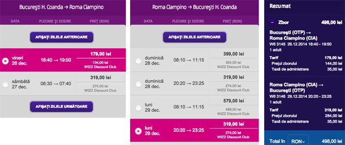 bilet-avion-craciun-roma